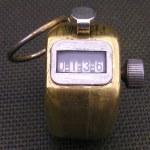 Veeder-Root Brass Counter