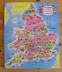 Wooden Jigsaw of England and Wales (Completed)